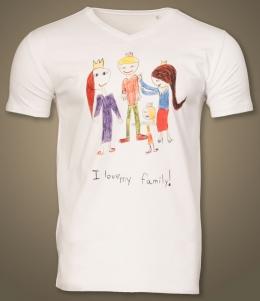 Geburtstags-Shirt mit Kinderzeichnung [Direktdruck]