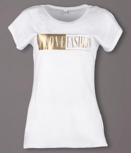 Fashion T-Shirts für Brautig mit Gold-Metalic [Flexdruck]
