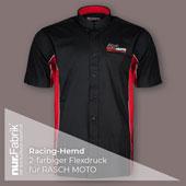 Racing Hemd bedruckt mit 2-farbigem Flexdruck, vorn